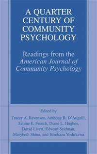 A Quarter Century of Community Psychology
