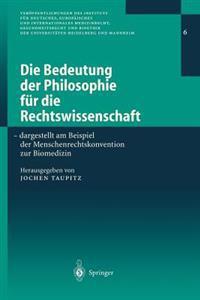 Die Bedeutung Der Philosophie F r Die Rechtswissenschaft