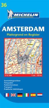Amsterdam Michelin 36 stadskarta : 1:12500