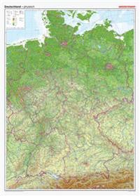 Posterkarten Geographie: Riesenposter Deutschland, physisch