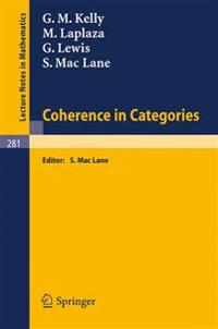 Coherence in Categories