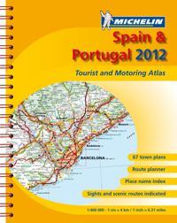 Spanien Portugal 2012 Atlas Michelin A4 : 1:400000