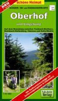 Wander-, Ski- und Radwanderkarte Oberhof, Ilmenau, Zella-Mehlis und Umgebung 1 : 35 000