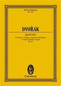 Dvorak: Quintet, A Major/A-Dur/La Majeur, Op. 81: For Piano, 2 Violins, Viola and Violoncello