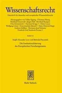 Die Institutionalisierung Des Europaischen Forschungsraums: Zur Organisationsstruktur Des Europaischen Forschungsrates