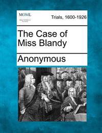 The Case of Miss Blandy