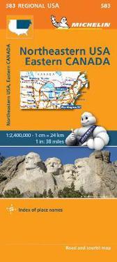 USA North East Map