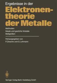 Ergebnisse in Der Elektronentheorie Der Metalle