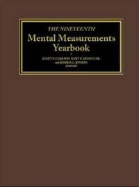 The Nineteenth Mental Measurements Yearbook