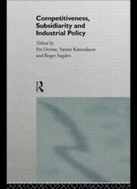 Competitiveness, Subsidiarity, and Industrial Policy