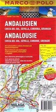 Andalusia, Costa del Sol, Seville & Cordoba Marco Polo Map
