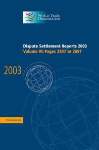 Dispute Settlement Reports 2003