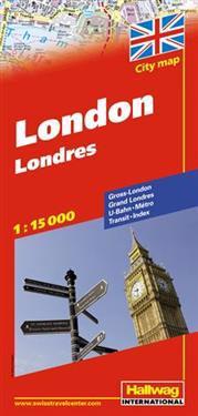 London Hallwag stadskarta : 1:15000