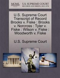 U.S. Supreme Court Transcript of Record Brooks V. Fiske