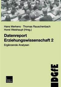 Datenreport Erziehungswissenschaft 2