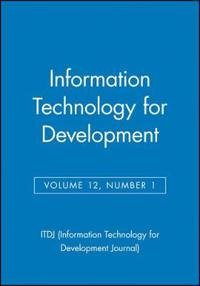 Information Technology for Development, No 1