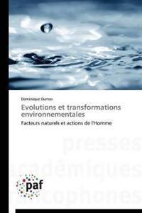 Evolutions Et Transformations Environnementales