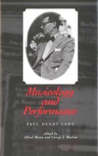 Musicology and Performance