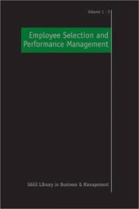 Employee Selection and Performance Management