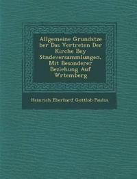 Allgemeine Grunds Tze Ber Das Vertreten Der Kirche Bey St Ndeversammlungen, Mit Besonderer Beziehung Auf W Rtemberg