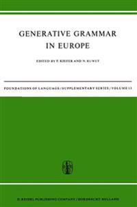 Generative Grammar in Europe