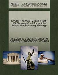 Sendak (Theodore) V. Dillin (Hugh) U.S. Supreme Court Transcript of Record with Supporting Pleadings