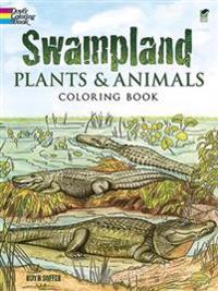 Swampland Plants and Animals Coloring Book