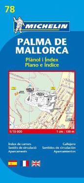 Palma de Mallorca Michelin 78 stadskarta : 1:10000
