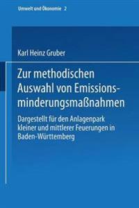 Zur Methodischen Auswahl Von Emissionsminderungsma nahmen