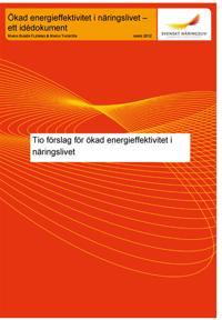 Tio förslag för ökad energieffektivitet i näringslivet  :   ett idédokument