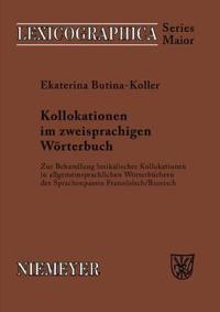 Kollokationen Im Zweisprachigen Wörterbuch