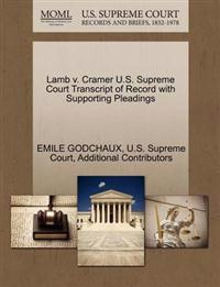 Lamb V. Cramer U.S. Supreme Court Transcript of Record with Supporting Pleadings
