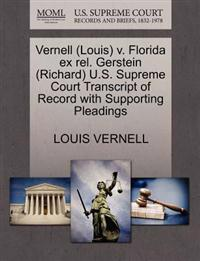Vernell (Louis) V. Florida Ex Rel. Gerstein (Richard) U.S. Supreme Court Transcript of Record with Supporting Pleadings