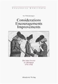 Considerations - Encouragements - Improvements