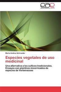 Especies Vegetales de USO Medicinal