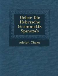 Ueber Die Hebr¿ische Grammatik Spinoza's