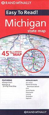 Rand McNally Easy to Read! Michigan State Map