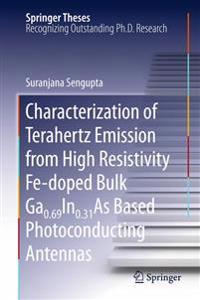 Characterization of Terahertz Emission from High Resistivity Fe-doped Bulk Ga0.69In0.31As Based Photoconducting Antennas