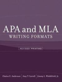 APA and MLA Writing Formats