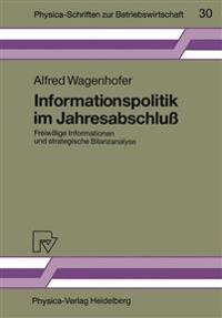 Informationspolitik Im Jahresabschluss