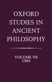 Oxford Studies in Ancient Philosophy, 1989