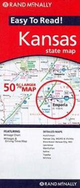 Rand McNally Easy to Read! Kansas State Map