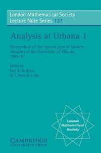 Analysis at Urbana