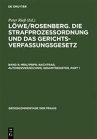 Mrk/Ipbpr; Nachtrag; Autorenverzeichnis; Gesamtregister