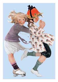 Girls Rollerskating Friendship Card [With 6 Envelopes]