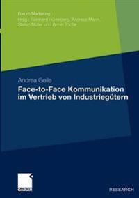 Face-to-face Kommunikation Im Vertrieb Von Industriegütern