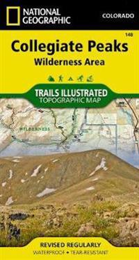 National Geographic Collegiate Peaks Wilderness Area Map