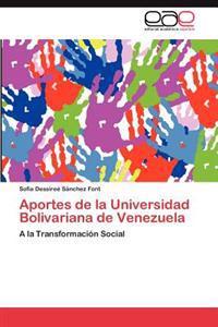 Aportes de La Universidad Bolivariana de Venezuela
