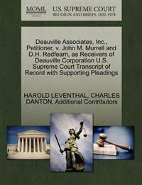 Deauville Associates, Inc., Petitioner, V. John M. Murrell and D.H. Redfearn, as Receivers of Deauville Corporation U.S. Supreme Court Transcript of Record with Supporting Pleadings