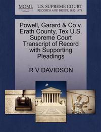 Powell, Garard & Co V. Erath County, Tex U.S. Supreme Court Transcript of Record with Supporting Pleadings